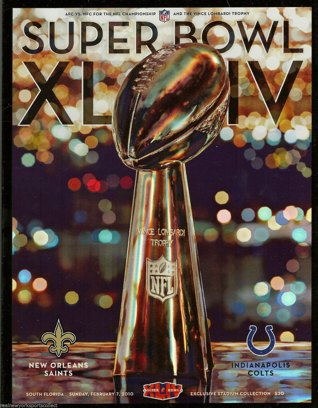 Super Bowl XLIV       Program