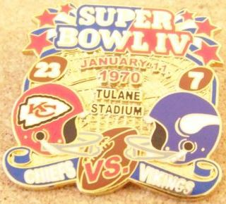 Super Bowl IV         Pin
