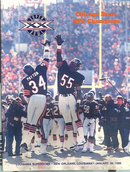 Super Bowl XX         Program