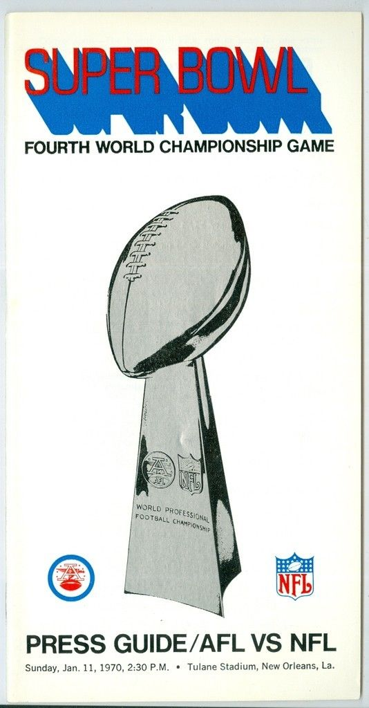 Super Bowl IV         Program