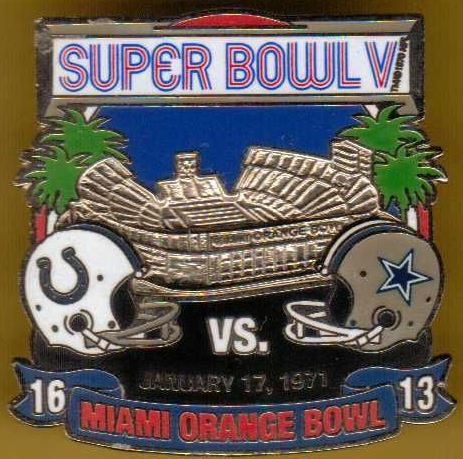 Super Bowl V          Pin