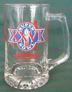Super Bowl XXVI       Glassware/Mugs