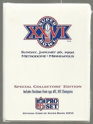 Super Bowl XXVI       Card Set