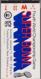Super Bowl IV         Ticket