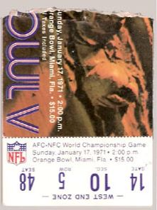 Super Bowl V          Ticket