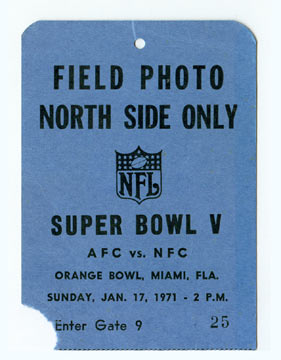 Super Bowl V          Pass