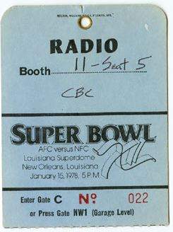 Super Bowl XII        Pass