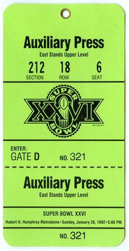 Super Bowl XXVI       Pass