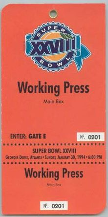 Super Bowl XXVIII     Pass