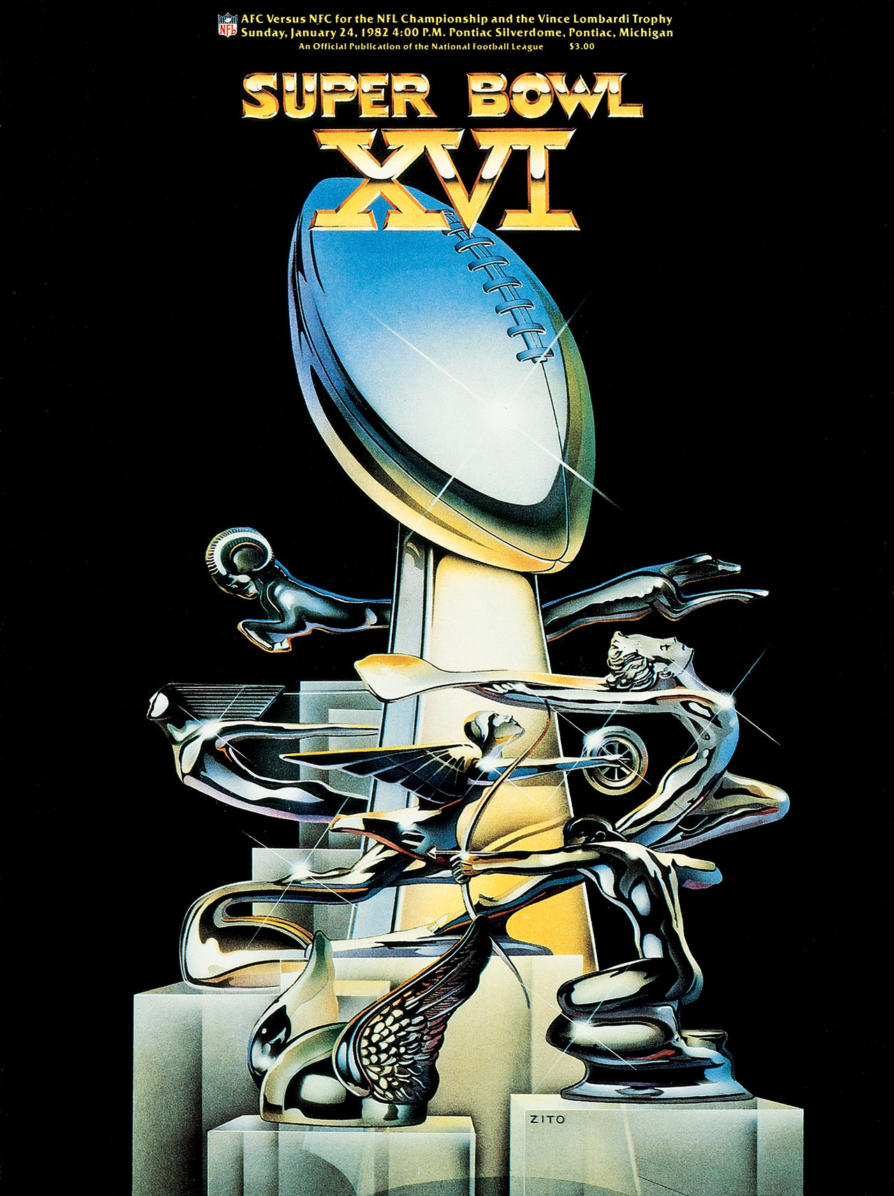 Super Bowl XVI        Program
