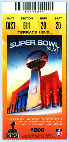 Super Bowl XLVI       Ticket