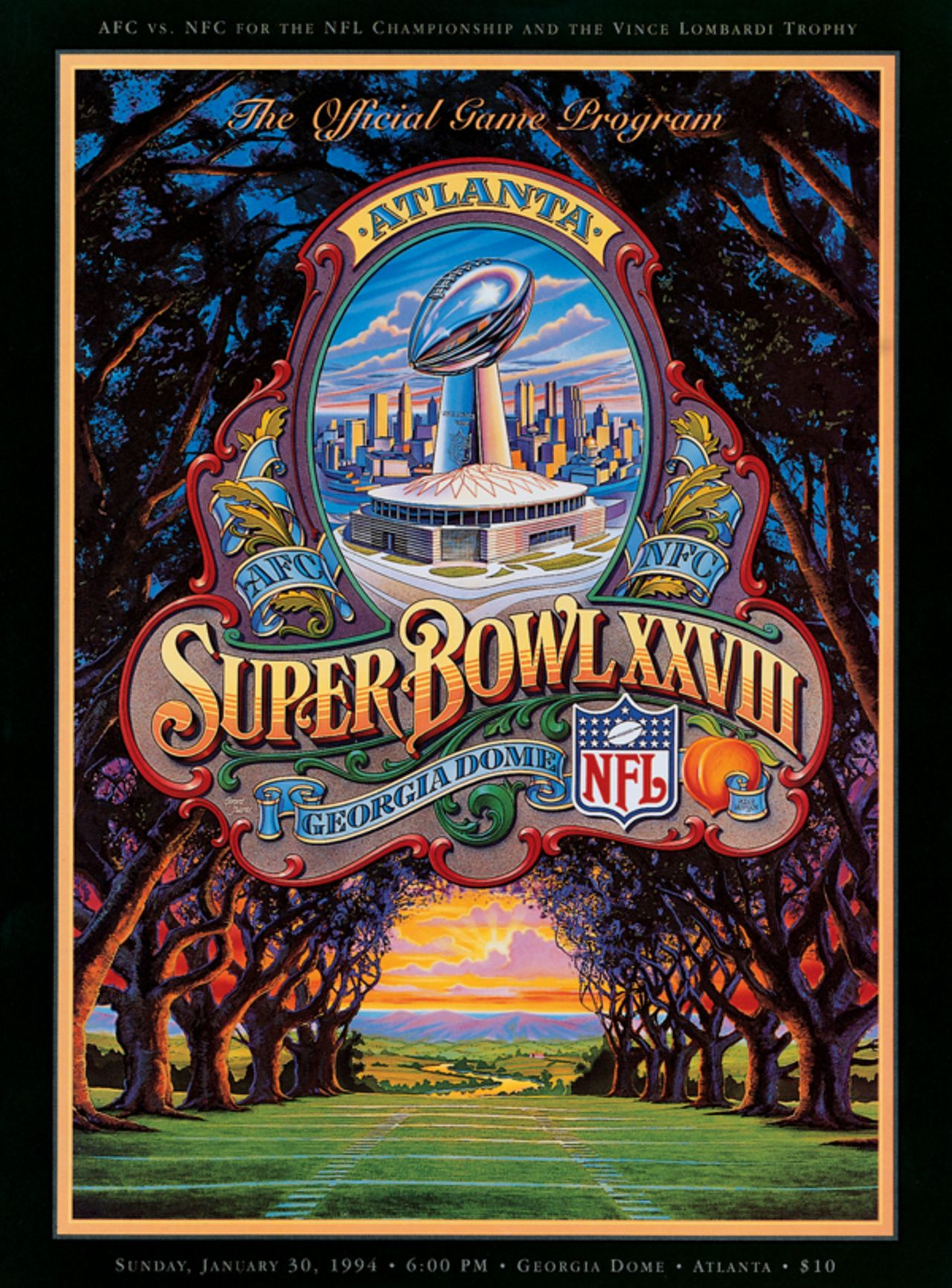 Super Bowl XXVIII     Program
