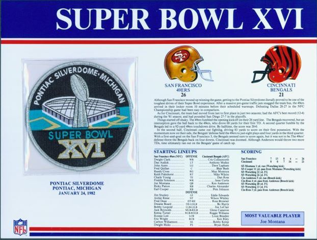 Super Bowl XVI        Patch
