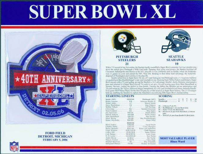13c7a7002 EBay Super Bowl XL Patch items