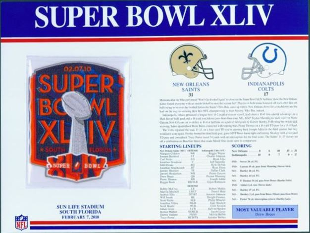 Super Bowl XLIV       Patch