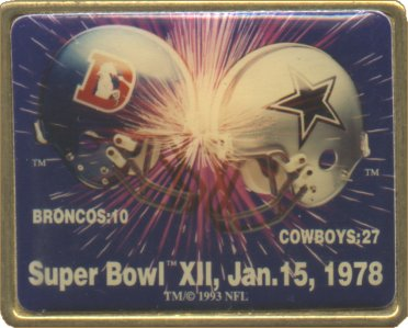Super Bowl XII        Pin